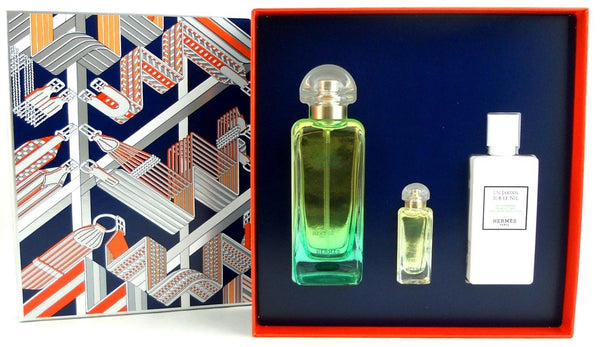 Un Jardin Sur Le Nil Women Hermes EDT Spray 3.3 oz + Mini+ 2.7 Lotion. - Online Shopping Fragrances, Perfumes & Makeup Airdamour.com