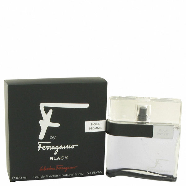 Salvatore Ferragamo F POUR HOMME BLACK for Men  EDT Spray 3.4 oz