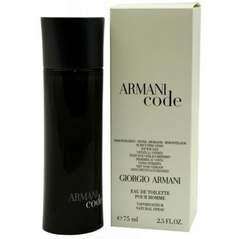 Armani Code By Giorgio Armani 2.5oz/75ml Edt Spray For Men TESTER - Online Shopping Fragrances, Perfumes & Makeup Airdamour.com