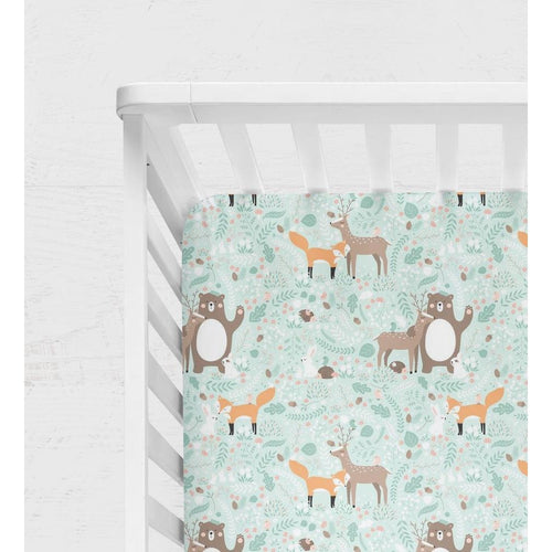 Forest Friends - Crib Sheet - Les Petits Loulous