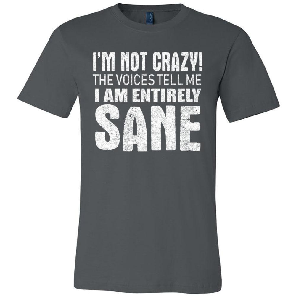 I'm Not Crazy Sarcastic Funny Bella Canvas - Unisex Short Sleeve Jersey Tee, T-Shirts, Whip Me Wear Fashion & T-Shirts