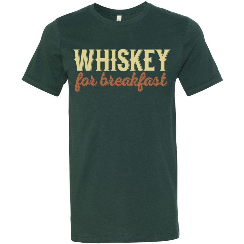 Wiskey For Breakfast Funny Drinking Shirt, Bella Canvas - Short Sleeve Jersey Tee, T-Shirts, Whip Me Wear Fashion & T-Shirts