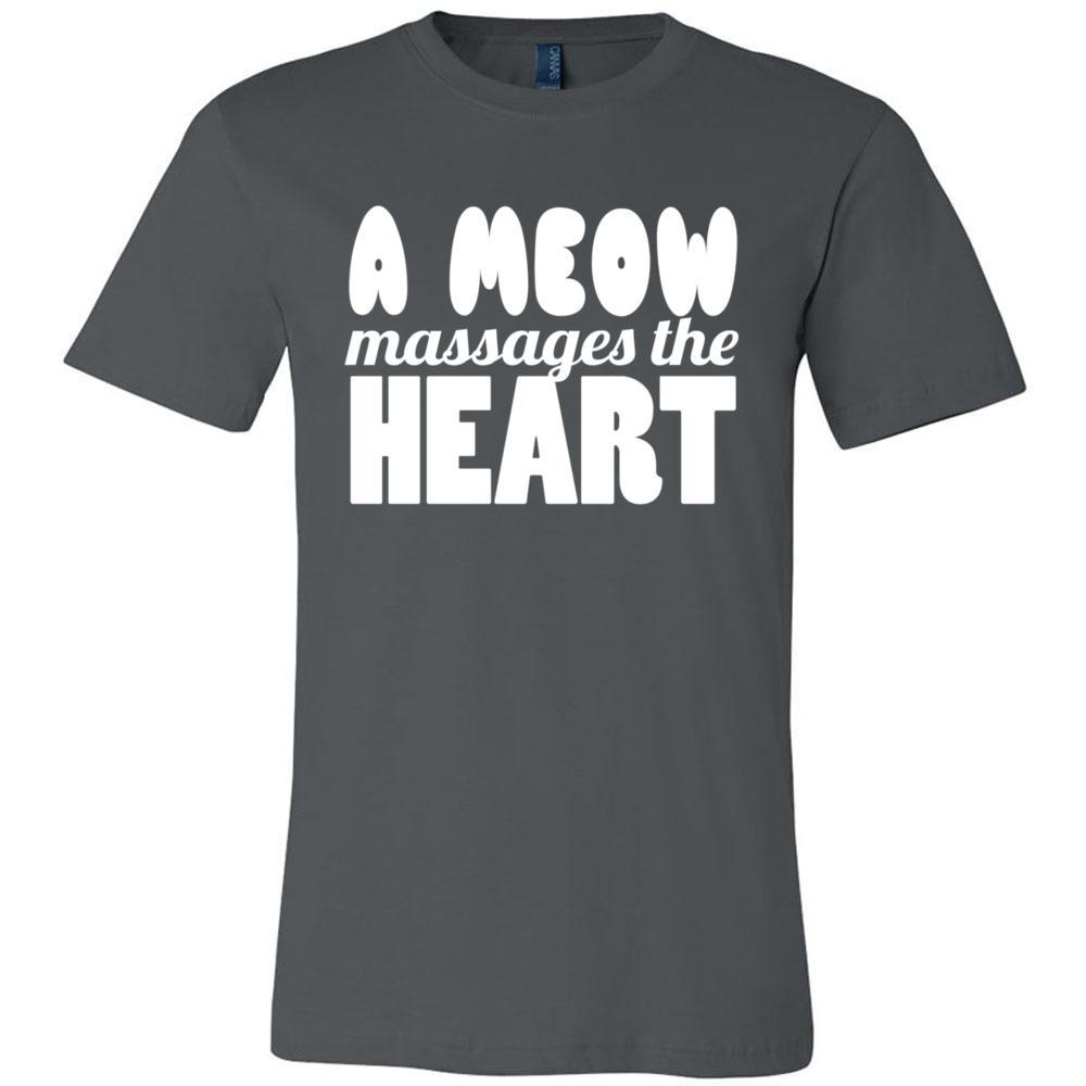 98 A Meow Massages The Heart Cat T Shirt Bella Canvas - Unisex Short Sleeve Jersey Tee, T-Shirts, Whip Me Wear Fashion & T-Shirts
