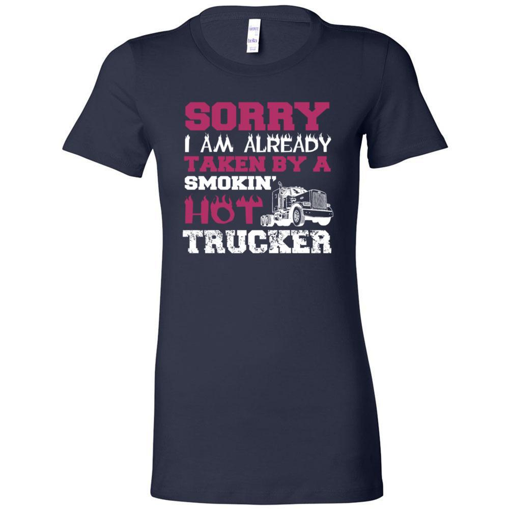 Taken By A Smokin Hot Trucker Bella Canvas - Women's The Favorite Tee, T-Shirts, Whip Me Wear Fashion & T-Shirts