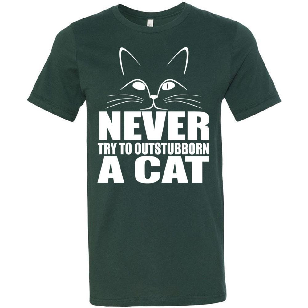 Never Outstubborn A Cat Bella Canvas - Unisex Short Sleeve Jersey Tee, T-Shirts, Whip Me Wear Fashion & T-Shirts