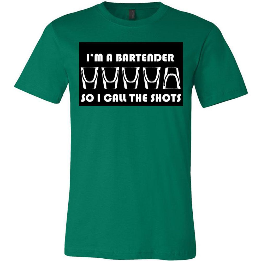 I'm A Bartender, I Call The Shots, Bella Canvas - Unisex Short Sleeve Jersey Tee, T-Shirts, Whip Me Wear Fashion & T-Shirts
