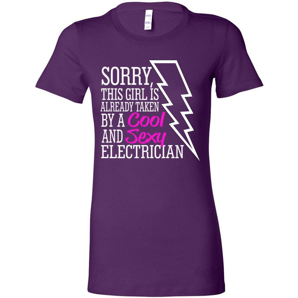 Taken by a Sexy Electrician- Bella Canvas - Women's The Favorite Tee, T-Shirts, Whip Me Wear Fashion & T-Shirts