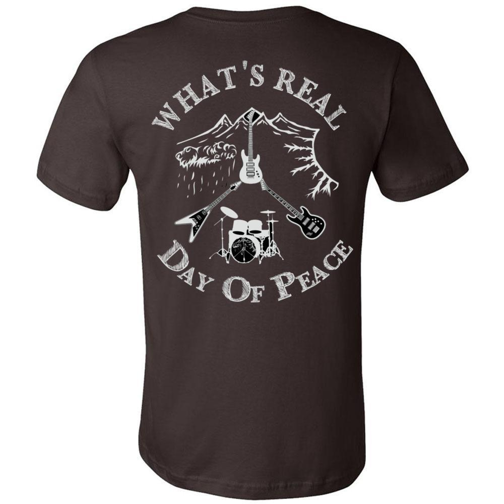 Day Of Peace Rock Shirt Bella Canvas - Short Sleeve Jersey Tee Men's  Double Sided DOP, T-Shirts, Whip Me Wear Fashion & T-Shirts