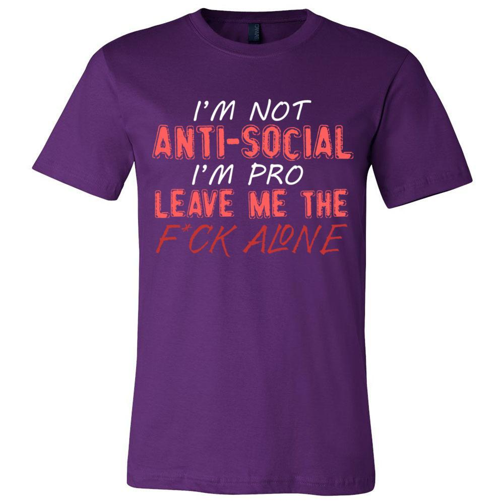 I'm Not Anti Social Sarcastic T Bella Canvas - Unisex Short Sleeve Jersey Tee, T-Shirts, Whip Me Wear Fashion & T-Shirts