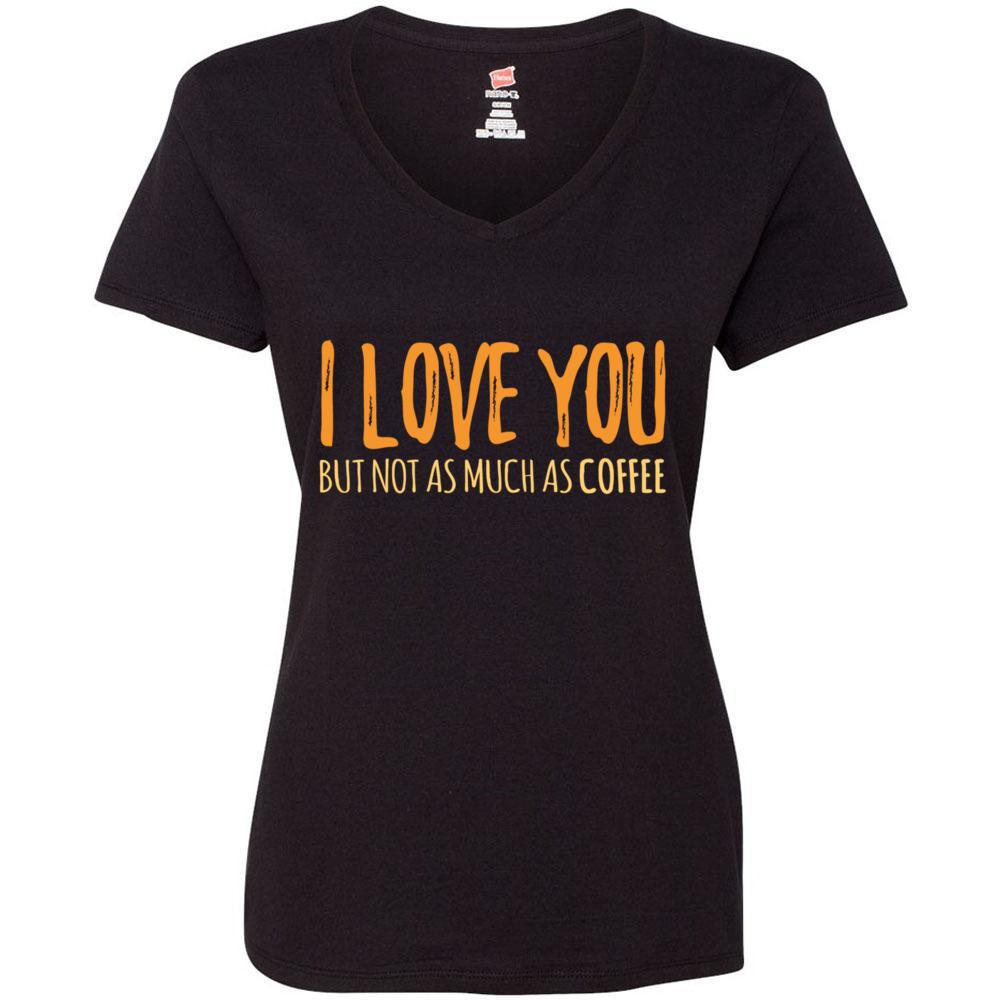 Women's Funny Coffee T-shirt I Love You But Not As Much As Coffee, T-Shirts, Whip Me Wear Fashion & T-Shirts