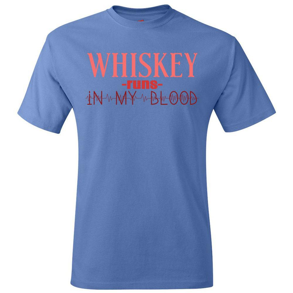 Wiskey Runs In My Blood Funny Tee Hanes - Tagless T-Shirt, T-Shirts, Whip Me Wear Fashion & T-Shirts