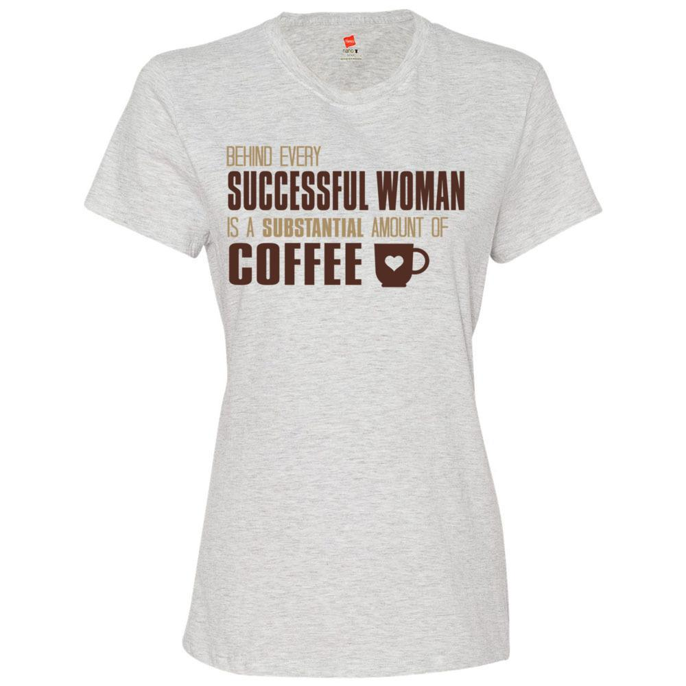 Successful Women and Coffee Tshirt, Hanes - Nano T Women's T-Shirt USA, T-Shirts, Whip Me Wear Fashion & T-Shirts
