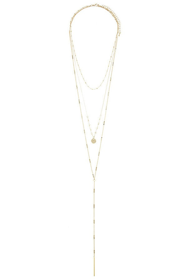 Linear bar accent multi layer lariat necklace, , Whip Me Wear Fashion & T-Shirts