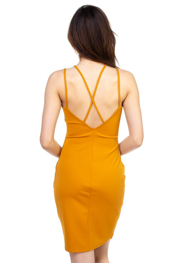 Crisscross Double Spaghetti Dress