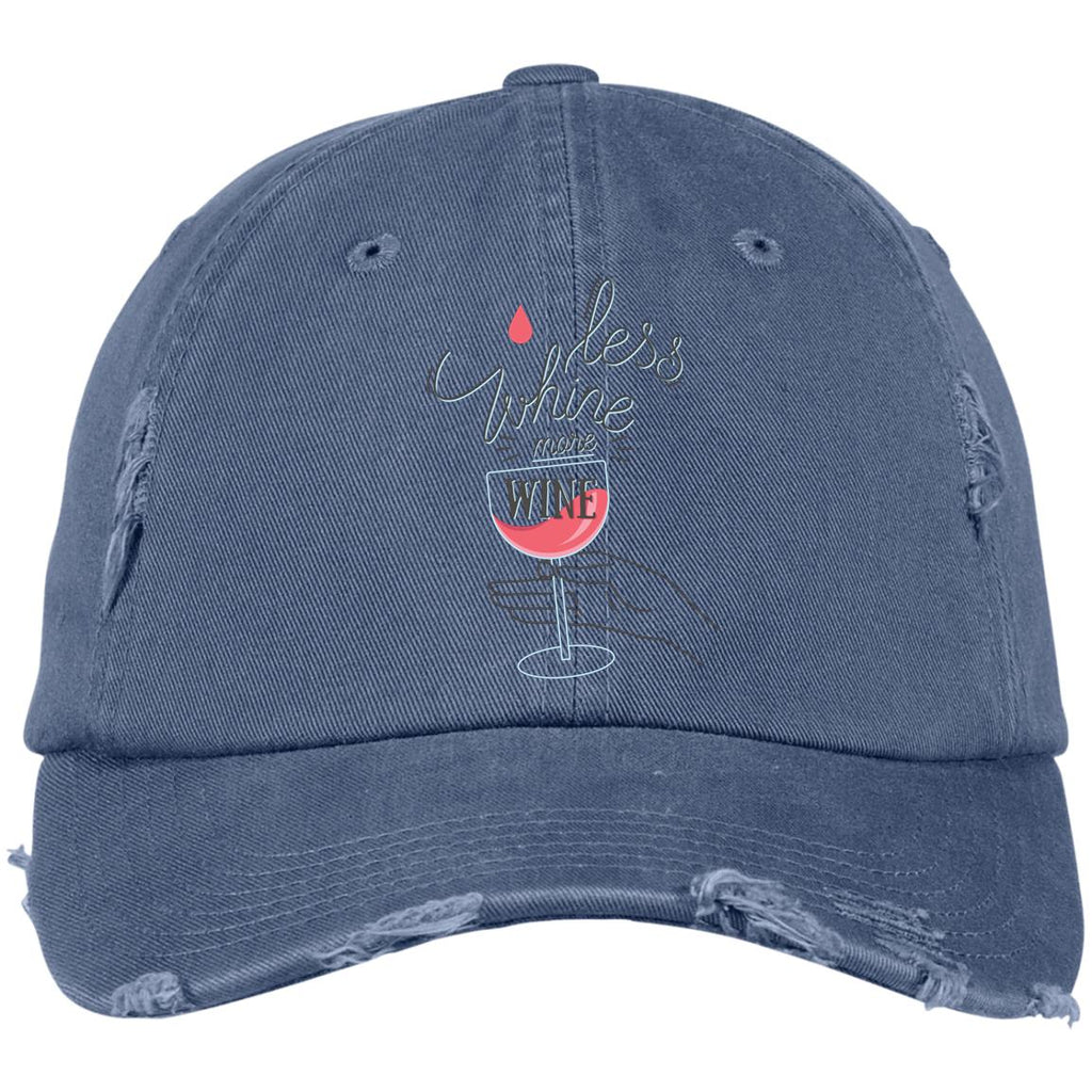 D1188 Whine Less DT600 District Distressed Dad Cap, Hats, Whip Me Wear Fashion & T-Shirts