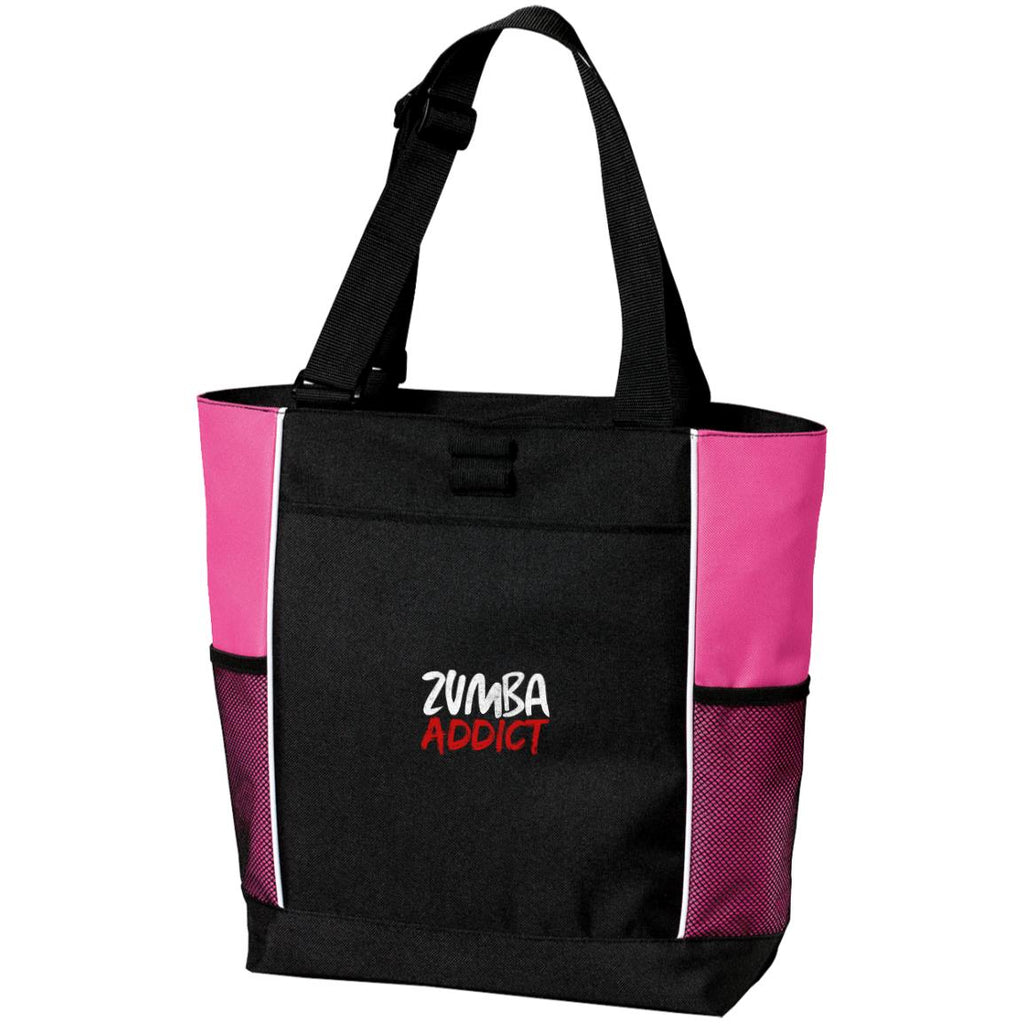 Z102 Zumba Addict B5160 Port Authority Colorblock Zipper Tote Bag, Bags, Whip Me Wear Fashion & T-Shirts