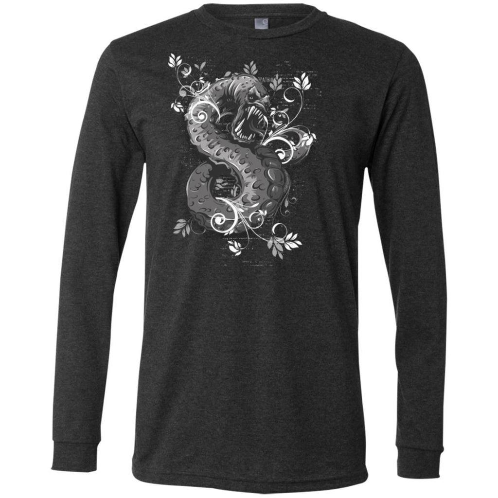 D414 Goth Graphic Snake 3501 Bella + Canvas Men's Jersey LS T-Shirt, T-Shirts, Whip Me Wear Fashion & T-Shirts