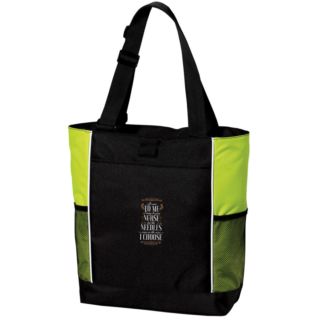 D1748 Be Nice To Me Nurse B5160 Port Authority Colorblock Zipper Tote Bag, Bags, Whip Me Wear Fashion & T-Shirts