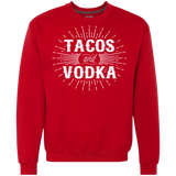 559 Tacos And Vodka G920 Gildan Heavyweight Crewneck Sweatshirt 9 oz., Sweatshirts, Whip Me Wear Fashion & T-Shirts