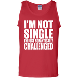 81 I'm Not Single I'm Just Romantically G220 Gildan 100% Cotton Tank Top, T-Shirts, Whip Me Wear Fashion & T-Shirts