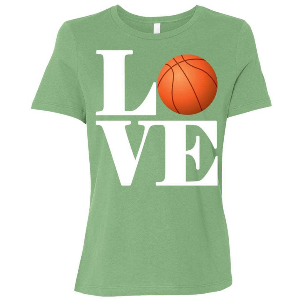 614 Love Basketball B6400 Bella + Canvas Ladies' Relaxed Jersey Short-Sleeve T-Shirt, T-Shirts, Whip Me Wear Fashion & T-Shirts
