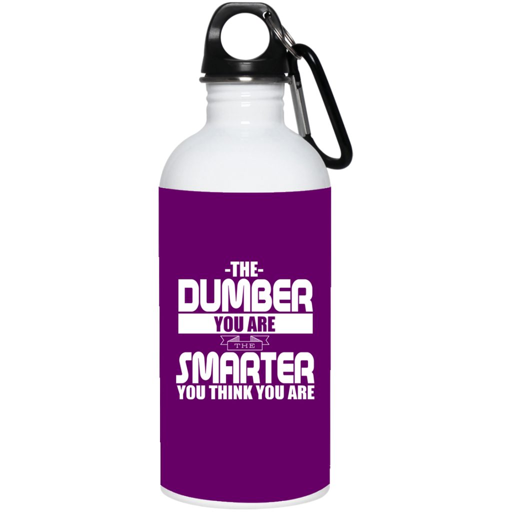 319 23663 20 oz. Stainless Steel Water Bottle, Drinkware, Whip Me Wear Fashion & T-Shirts