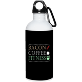 602 Bacon Coffee Fitness 23663 20 oz. Stainless Steel Water Bottle, Drinkware, Whip Me Wear Fashion & T-Shirts