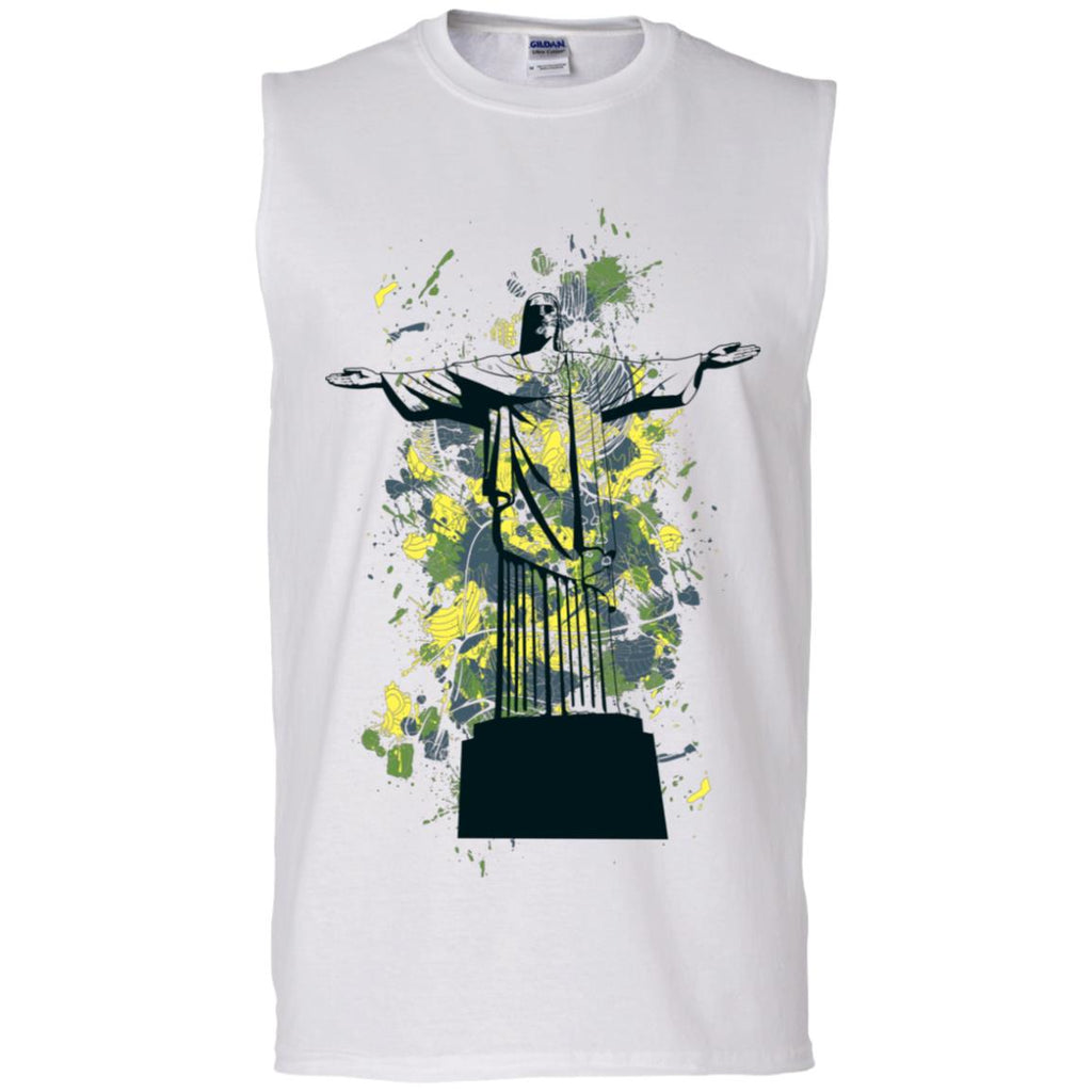 D858 Graphic Cross G270 Gildan Men's Ultra Cotton Sleeveless T-Shirt, T-Shirts, Whip Me Wear Fashion & T-Shirts