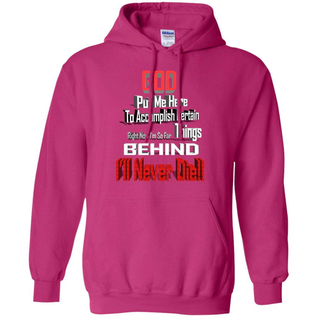 God Put Me Here G185 Gildan Pullover Hoodie 8 oz., Sweatshirts, Whip Me Wear Fashion & T-Shirts