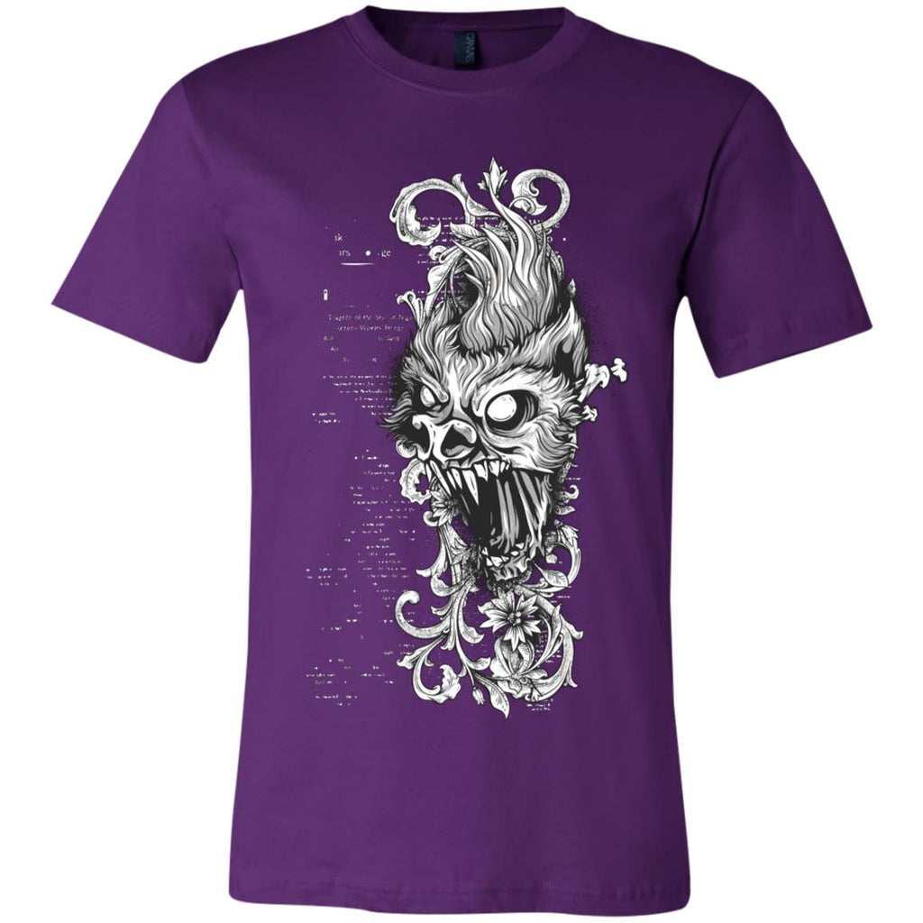 D410 Goth Scary Head 3001C Bella + Canvas Unisex Jersey Short-Sleeve T-Shirt, T-Shirts, Whip Me Wear Fashion & T-Shirts