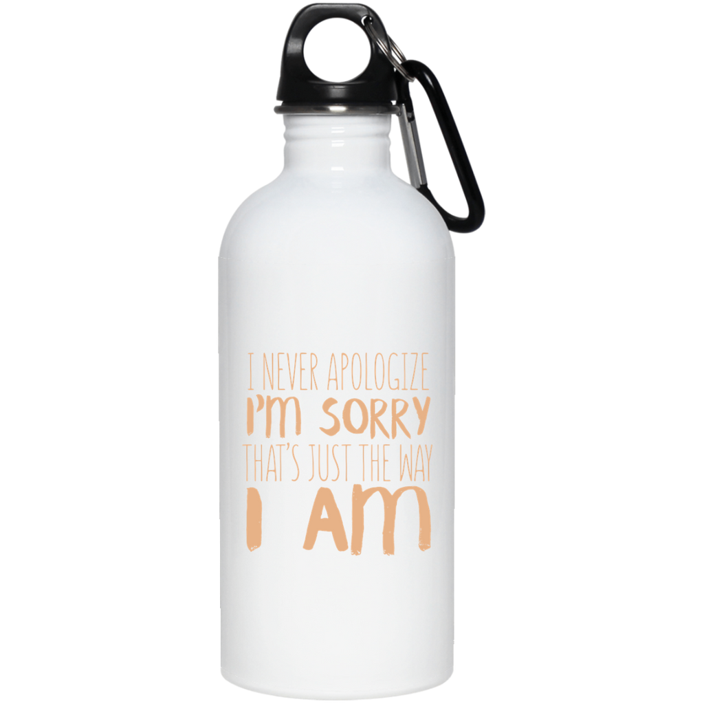 289 23663 20 oz. Stainless Steel Water Bottle, Drinkware, Whip Me Wear Fashion & T-Shirts