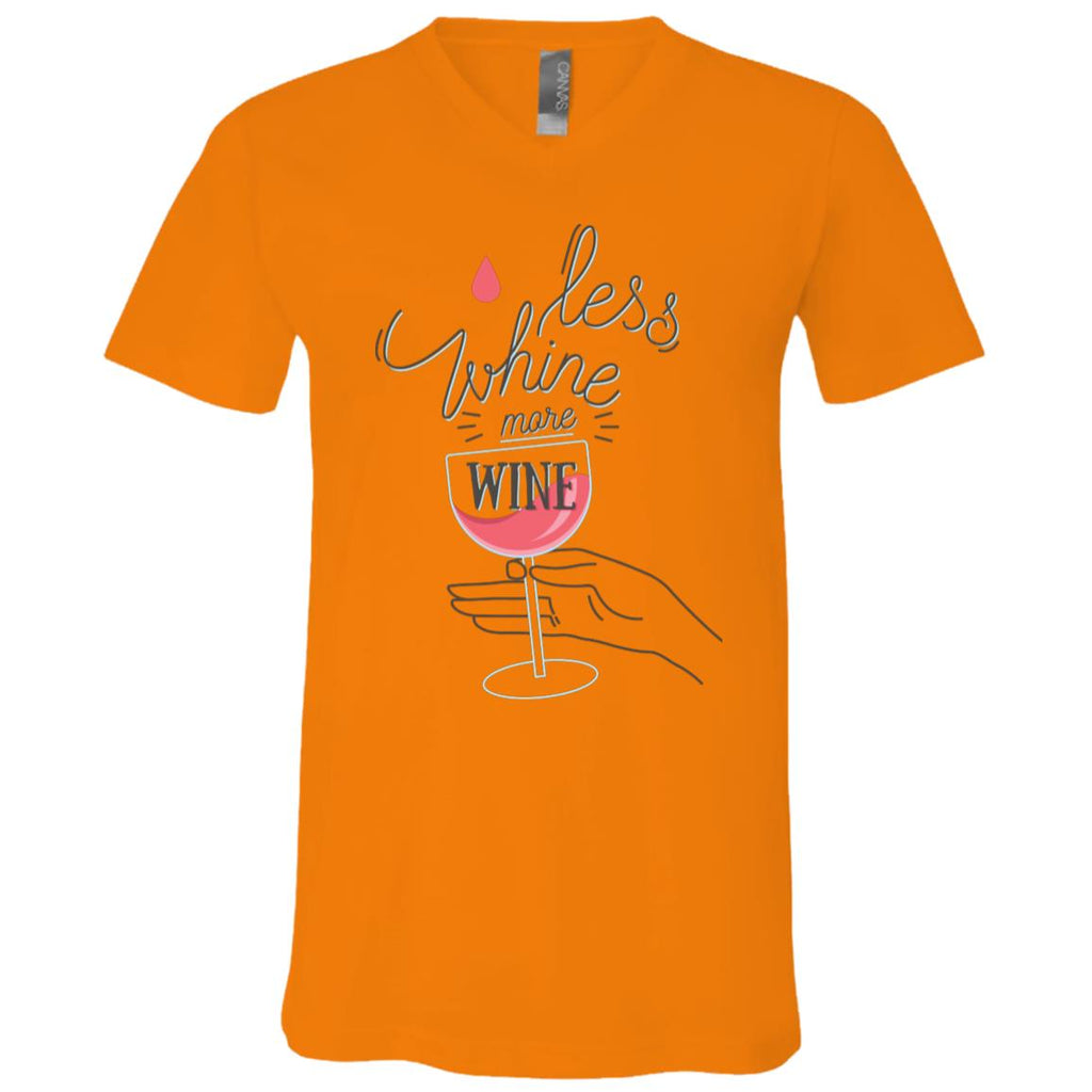D1188 Whine Less 3005 Bella + Canvas Unisex Jersey SS V-Neck T-Shirt, T-Shirts, Whip Me Wear Fashion & T-Shirts