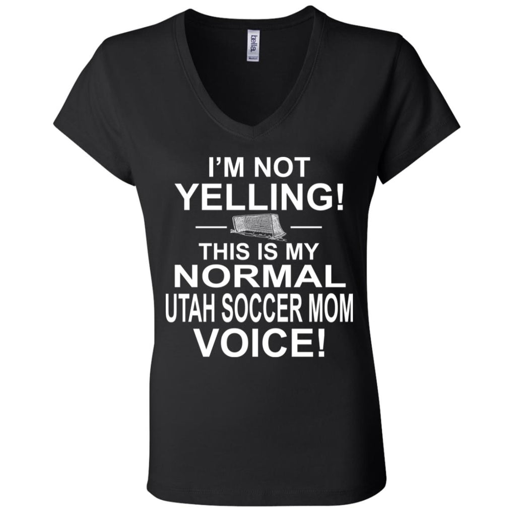 S01 I'm Not Yelling B6005 Ladies' Jersey V-Neck T-Shirt, T-Shirts, Whip Me Wear Fashion & T-Shirts