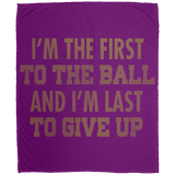 275 First To Ball DP1726 Large Velveteen Micro Fleece Blanket - 50x60, Blankets, Whip Me Wear Fashion & T-Shirts