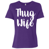 669 Thug Wife B6400 Bella + Canvas Ladies' Relaxed Jersey Short-Sleeve T-Shirt, T-Shirts, Whip Me Wear Fashion & T-Shirts