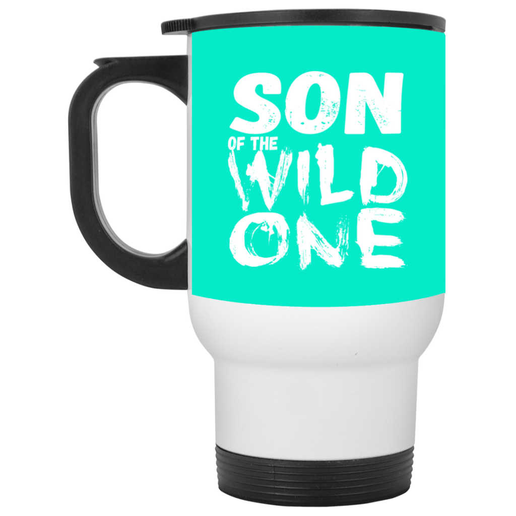 556 Son Of A Wild One XP8400W White Travel Mug, Drinkware, Whip Me Wear Fashion & T-Shirts