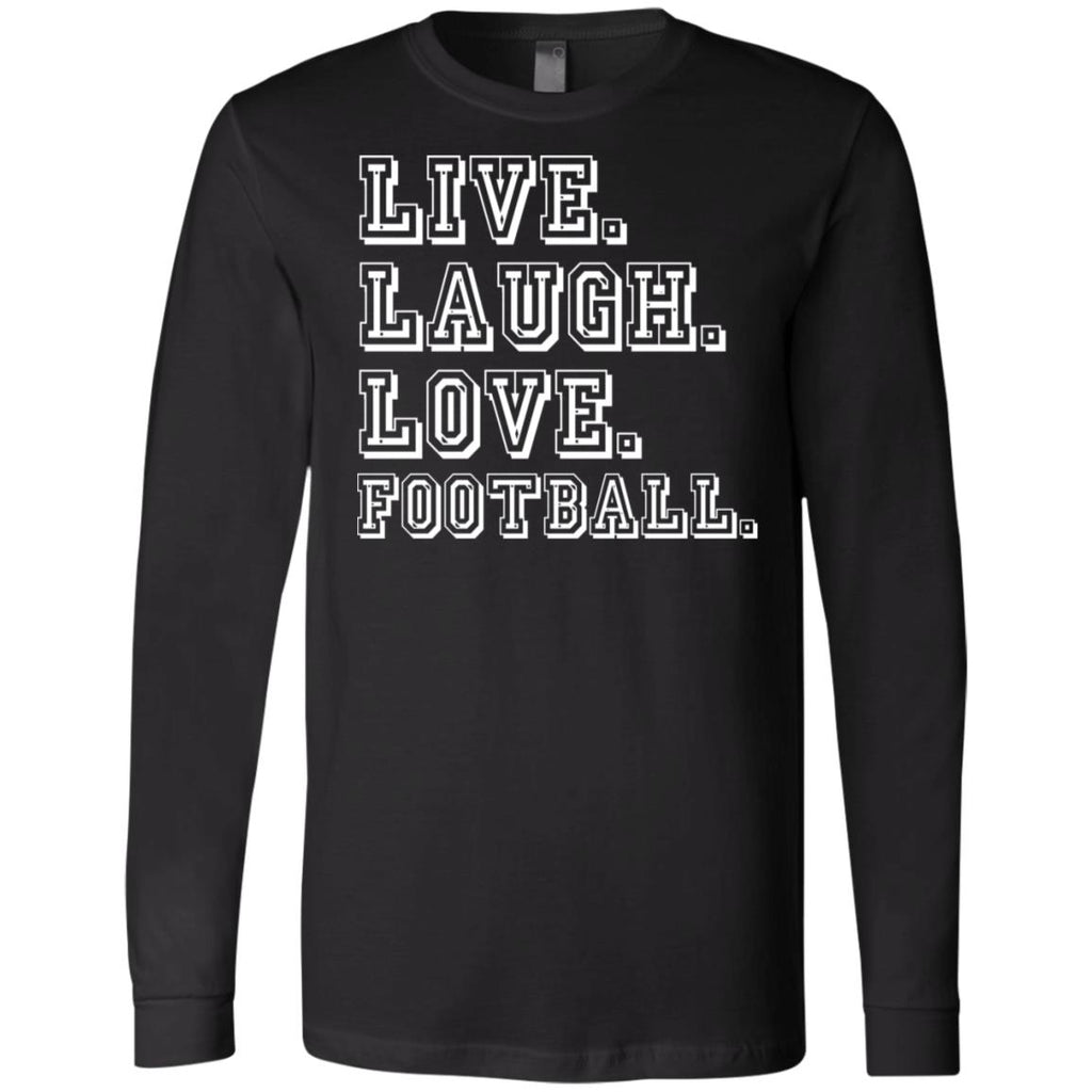 274 Love Football 3501 Bella + Canvas Men's Jersey LS T-Shirt, T-Shirts, Whip Me Wear Fashion & T-Shirts