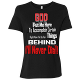 GB1 GOD BEHIND B6400 Bella + Canvas Ladies' Relaxed Jersey Short-Sleeve T-Shirt, T-Shirts, Whip Me Wear Fashion & T-Shirts