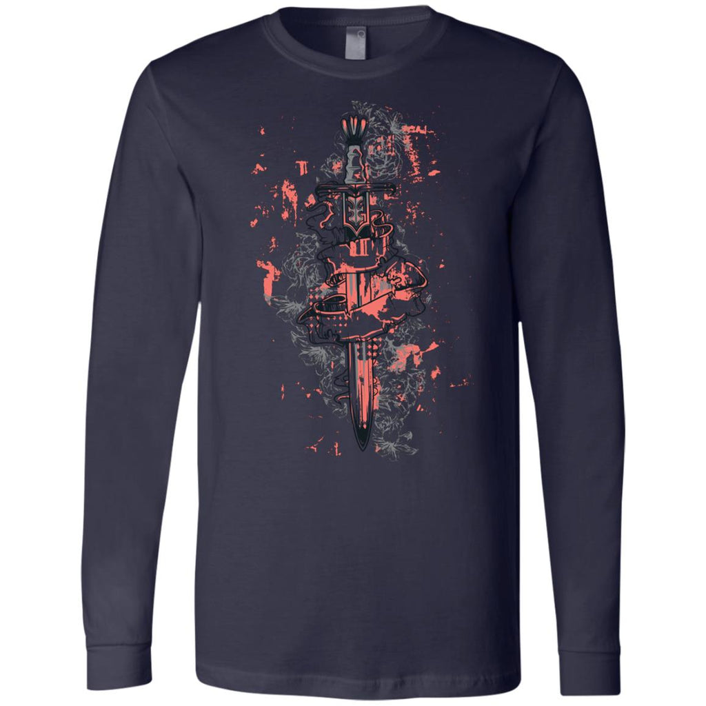 D586 Vintage Sword 3501 Bella + Canvas Men's Jersey LS T-Shirt, T-Shirts, Whip Me Wear Fashion & T-Shirts