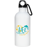 D21 Life Is Better On The beach 23663 20 oz. Stainless Steel Water Bottle, Drinkware, Whip Me Wear Fashion & T-Shirts