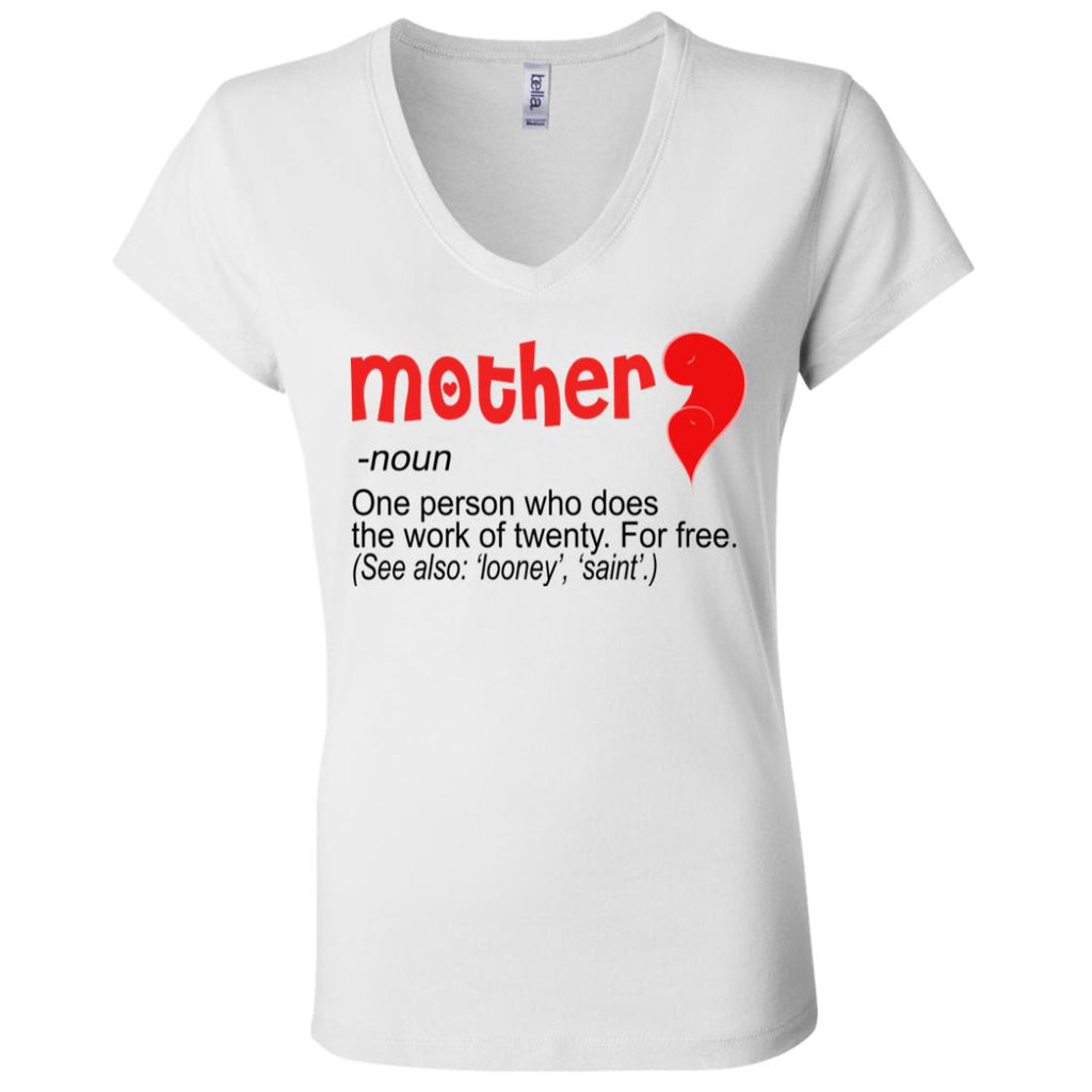 M18 Mother B6005 Ladies' Jersey V-Neck T-Shirt, T-Shirts, Whip Me Wear Fashion & T-Shirts