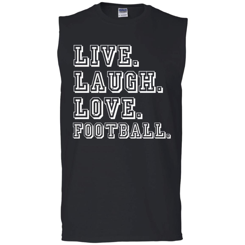 274 Love Football G270 Gildan Men's Ultra Cotton Sleeveless T-Shirt, T-Shirts, Whip Me Wear Fashion & T-Shirts