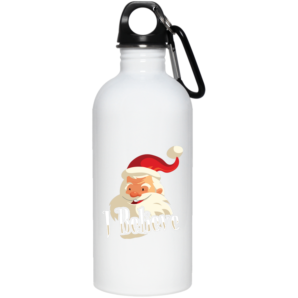 V1383 I Believe 23663 20 oz. Stainless Steel Water Bottle, Drinkware, Whip Me Wear Fashion & T-Shirts
