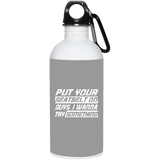 300 23663 20 oz. Stainless Steel Water Bottle, Drinkware, Whip Me Wear Fashion & T-Shirts