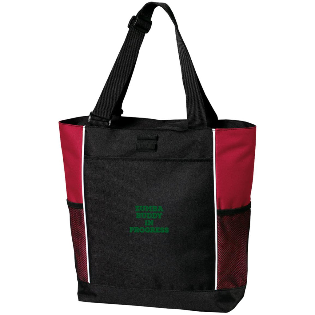 Z105 Zumba Buddy In Progress B5160 Port Authority Colorblock Zipper Tote Bag, Bags, Whip Me Wear Fashion & T-Shirts