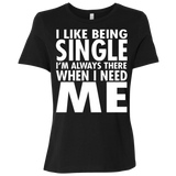 80 I Like Being Single I'm There When I Need Me B6400 Bella + Canvas Ladies' Relaxed Jersey Short-Sleeve T-Shirt, T-Shirts, Whip Me Wear Fashion & T-Shirts