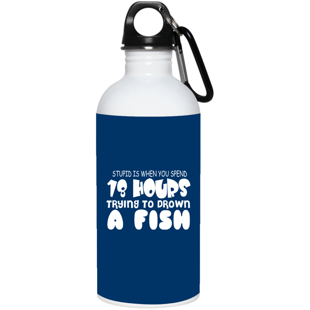 284 23663 20 oz. Stainless Steel Water Bottle, Drinkware, Whip Me Wear Fashion & T-Shirts