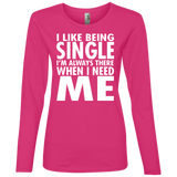 80 I Like Being Single I'm There When I Need Me 884L Anvil Ladies' Lightweight LS T-Shirt, T-Shirts, Whip Me Wear Fashion & T-Shirts