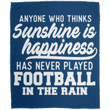 269 Football In Rain DP1726 Large Velveteen Micro Fleece Blanket - 50x60, Blankets, Whip Me Wear Fashion & T-Shirts