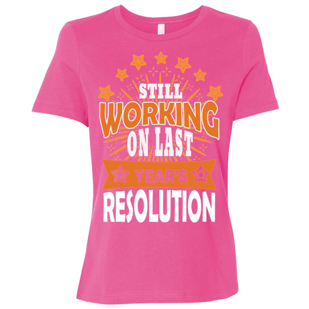D1524 Last Years Resolution B6400 Bella + Canvas Ladies' Relaxed Jersey Short-Sleeve T-Shirt, T-Shirts, Whip Me Wear Fashion & T-Shirts